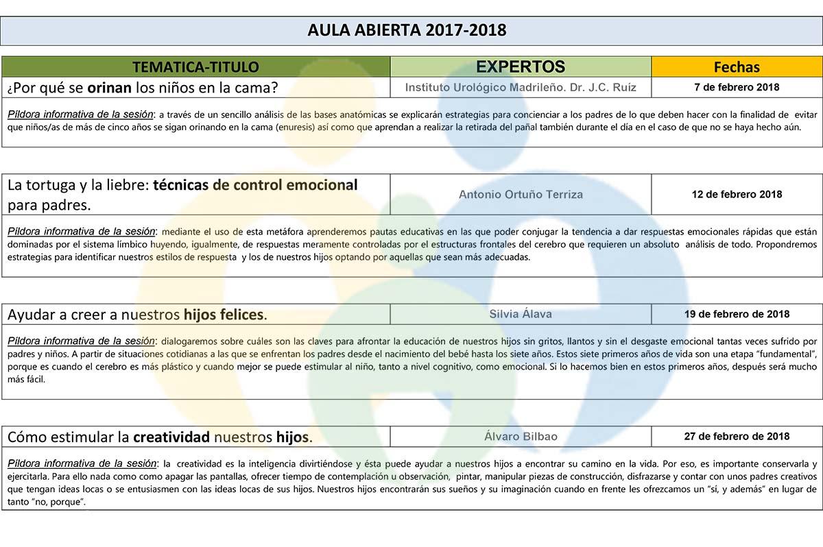 Aula Abierta 2017/ 2018