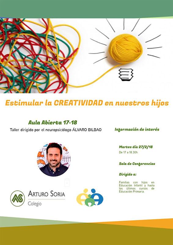 Nuevo taller de Aula Abierta: Cómo estimular la creatividad