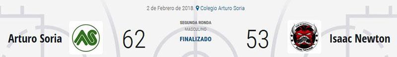Arturo Soria vencia en la 2a ronda de la copa colegial
