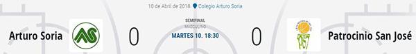 Semifinales Copa Colegial
