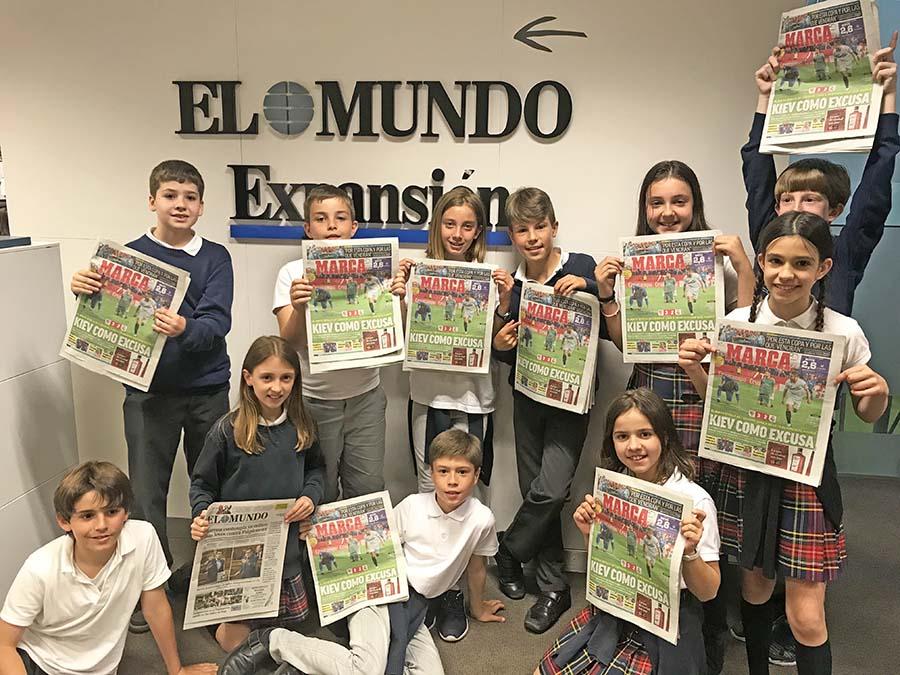 5º de Primaria visita las Redacciones de Unidad Editorial