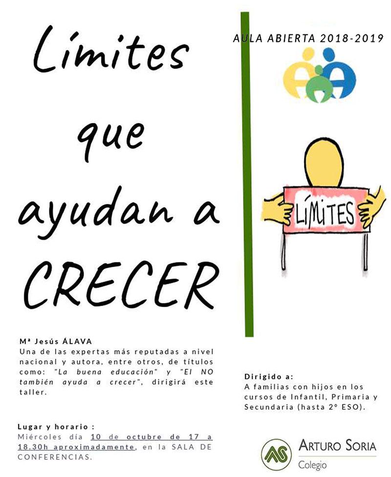 """Nuevo taller de Aula Abierta """"Límites que ayudan a crecer"""""""