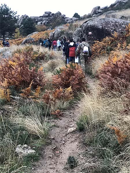 3º de Secundaria de Excursión en Valdemanco